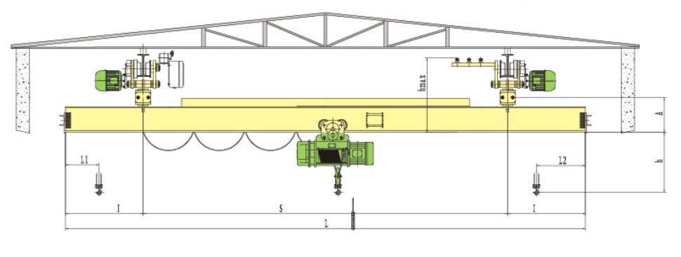 Однобалочный подвесной мостовой кран чертеж и схема