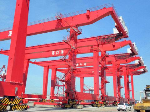 Продажа кран козловой контейнерный цена в Китае